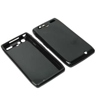 Black Sleeve TPU Gel Skin Cover Case For Verizon Motorola Droid RAZR