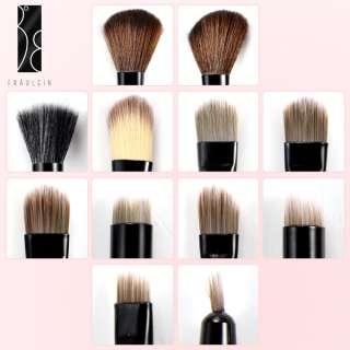Fraulein38 12x Pinceaux maquillage fard ombre trousse leopard dore de