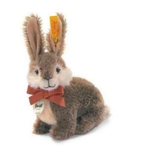 Steiff Dormili Rabbit Classic Mohair Brown / White 076633