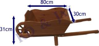 Ornamental Wooden Wheelbarrow Planter Garden Plant Pot
