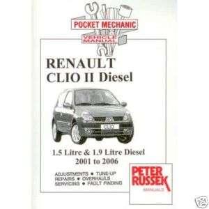 Renault Clio II, 1.5 DCi / 1.9 DTi diesel 2001 2006