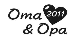 Oma und Opa 2011 Aufkleber mit Herz KFZ Boot ect silber