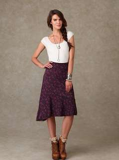 Asymmetrical Floral Knit Skirt at Free People Clothing Boutique