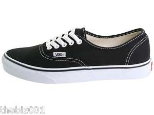 VANS SHOES BLACK ON WHITE AUTHENTIC SIZE 16 GENUINE NEW