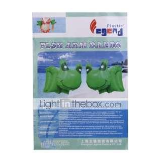 grenouille en forme de bouée bras pour les enfants (pack green/2