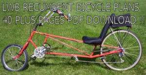 VINTAGE LOWRIDER BIKE BICYCLE RECUMBENT PLANS