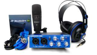 NEW PreSonus AudioBox Studio Audio Interface Recording Kit Home Bundle