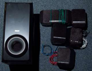 RCA 5 Piece Surround Sound Home Theater System 5 Speakers Subwoofer