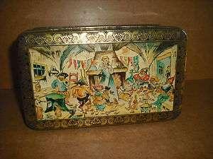 ANCIENNE BOITE Metal (vintage tin box)   Motif : BLANCHE NEIGE ET LES