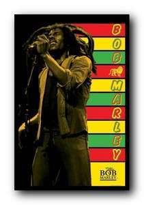 Bob Marley Stripes 23X35 Blacklight Poster Herb Vpa2030 638211390308