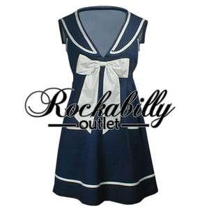 Navy Blue Dress Shoes on Navy Blue Pin Up Rockabilly Vintage Style Pencil Dress L Xl