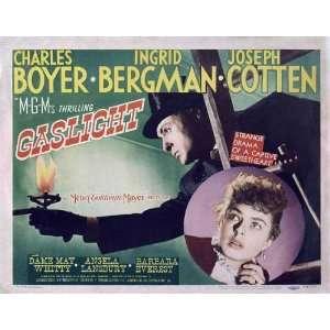Gaslight Poster Half Sheet 22x28 Charles Boyer Ingrid Bergman Joseph
