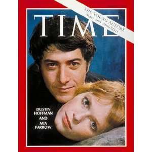 Dustin Hoffman and Mia Farrow by TIME Magazine. Size 11.00 X 14.00 Art