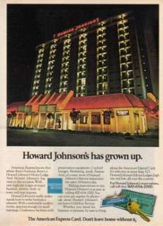 1977 Howard Johnsons Motor Lodge   American Express Credit Card   70s