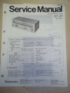 Technics Service/Repair Manual~ST Z1 Stereo Tuner
