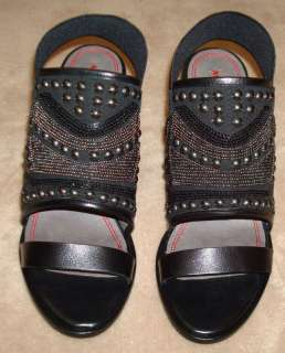 Miss Sixty SADE Black Leather Embellished Shoes Heels