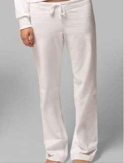 White Wedding Sweatpants Seans Bride MEDIUM (4 6 8) M Fleece Lounge
