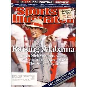 2007 Nick Saban Alabama Crimson Tide Sports Illustrated