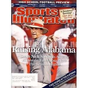 2007 Nick Saban Alabama Crimson Tide Sports Illustrated