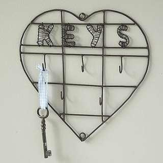 wire heart keys key rack by live laugh love