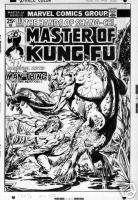 MASTER KUNG FU #19 Cover, Manthing GIL KANE/ TOM PALMER