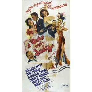 A Date With Judy Poster 20x40 Wallace Beery Jane Powell
