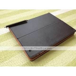 Simple Style Leather Case Stand with a Back Cover for Apple iPad 2