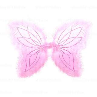 US$ 7.39   3 Piece Fuzzy Rimmed Charming Angel Wings Set (Color