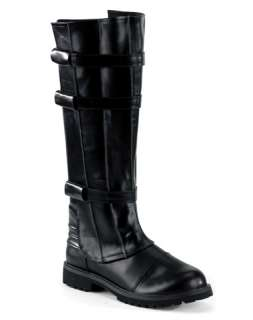 Star / Mens Horror Walker Black Boots