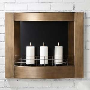 Colin Cowie Wall Mounted Indoor/Outdoor Metal Fireplace