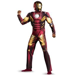 The Avengers Iron Man Mark VII Muscle Plus Adult Costume, 802645
