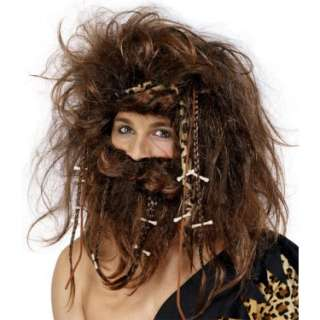 Halloween Costumes Caveman Wig With Beard Adult