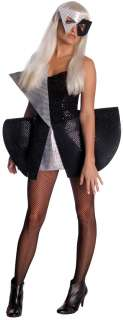 Lady Gaga Black and Silver Sequin Dress Costume for Adults