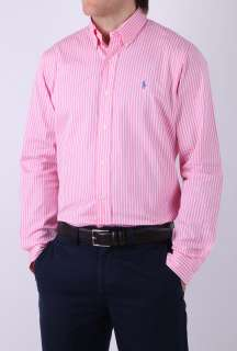 Pink Bengal Stripe Button Down Shirt by Polo Ralph Lauren   Pink   Buy