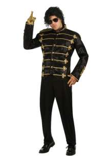 Michael Jackson Deluxe Black Military Jacket Adult Costume for