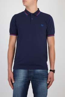 Fred Perry  Dark Blue Twin Tipped Polo by Fred Perry