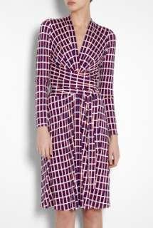 Issa  False Wrap Keyhole Silk Jersey Dress by Issa