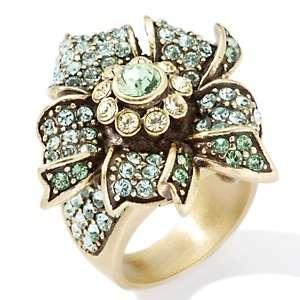 Heidi Daus Petal Passion Flower Design Crystal Ring
