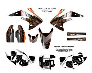 Honda CRF 150R 2007 09 MX Graphics Decals Kit #7777OR