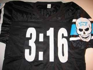 Stone Cold Steve Austin Skull 316 Jersey Shirt New WWF