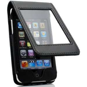 Leather Flip Case and Screen Protector for 4th Generation Ipod Touch
