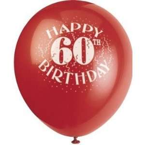 Happy 60th Birthday 6 Count Balloons: Health & Personal