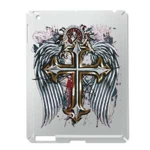 iPad 2 Case Silver of Cross Angel Wings