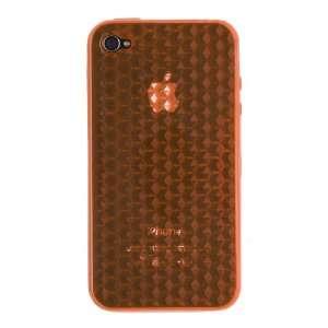 Apple iPhone 4 * Flexi Rubber Case * Transparent Diamonds