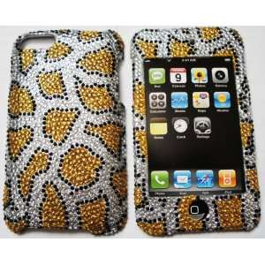 Gold Leopard Design Diamante Hard Case Cell Phones & Accessories