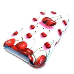 Apple Ipod Touch 1st 1G Generation White Cherry Fruit Design Case
