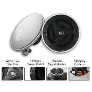 Audio MAT 6N Home Theater In Wall Surround Sound Stereo Speakers