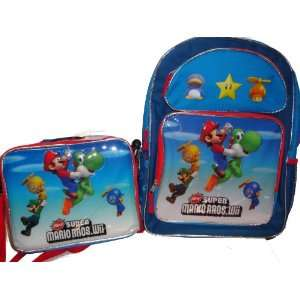 Nintendo Mario Wii Large Backpack 16 and Insulated