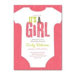 Baby Shower Invitations   Baby Style Medium Pink By