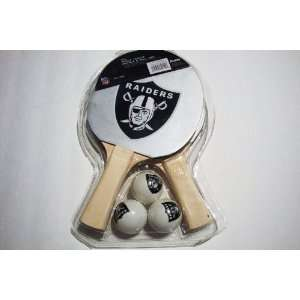 NFL Oakland Raiders Table Tennis Paddle & Ball Set  Sports